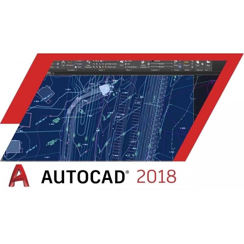 Licencia de 3 años de Autodesk Autocad 2018 (Windows 7/8/10)