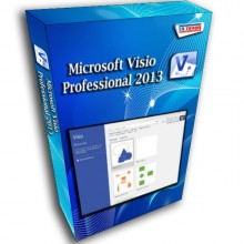 Visio Professional 2013 License 32/64-bit 1 PC Original