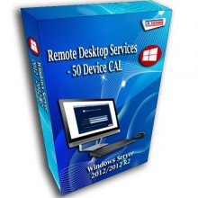 Windows Server 2012 / 2012 R2 Remote Desktop Services - 50 Device CAL