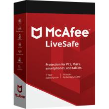 McAfee LiveSafe - Dispositivos Ilimitados - 1 año