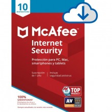 McAfee Internet Security 10 dispositivos - 1 año